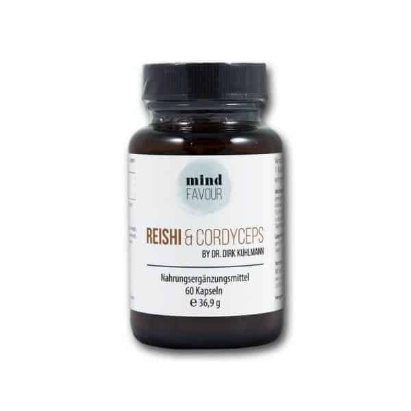 MIND FAVOUR Food supplements Reishi and Cordyceps capsules buy naturopathic mushrooms 2019