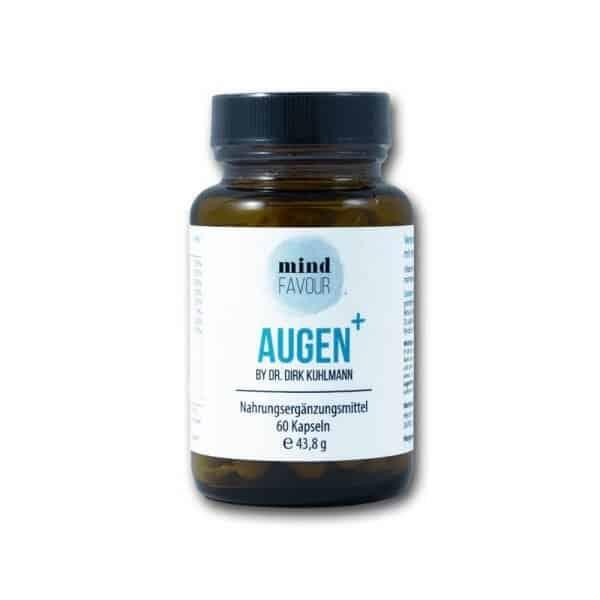 Augen-Plus mit Karotte Heidelbeer Lutein Zeaxanthin Vitaminen und Mineralstoffen